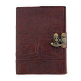 Brown Tree of Life Celtic Leather Journal Book Diary Notebook