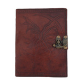 Brown Moon Goddess Embossed Leather Journal Book Diary Notebook