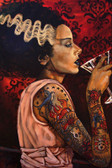 Bride Cocktail by Mike Bell Canvas Giclee Tattoo Art Print Frankenstein Monster