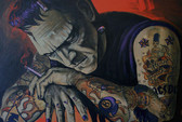 Heart Breaker by Mike Bell Canvas Giclee Tattoo Art Print Frankenstein Monster