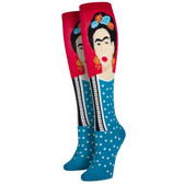 Women's Knee High Socks Frida Kahlo Iconic Artist Red