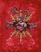 Sacred Heart Study by David Lozeau Canvas Giclee Tattoo Art Print