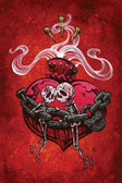 Chained To You by David Lozeau Canvas Giclee Tattoo Art Print Sacred Heart Skulls