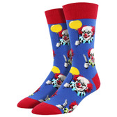 Socksmith Men's Crew Socks Free Balloons Creepy Clowns Blue