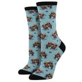 Women's Crew Socks Significant Otter Blue Chalk