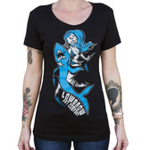 Shark Girl by Candy Women's Tee Shirt Rockabilly Bikini Clad Hunter