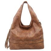 The Amia Hobo Brown Purse Bohemian Tote Crossbody Shoulder Bag