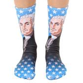Unisex Men's or Women's Crew Socks President George Washington