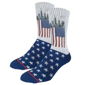 Men's Crew Socks American Flag Active Footwear