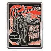 Trick or Treat Ghoulsville Halloween ID Case Business Card Holder Wallet