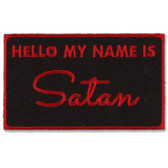 My Name Is Satan Retro Patch Embroidered Iron On Applique