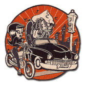 Iron Invasion Kustom Kulture Patch Embroidered Iron On Applique