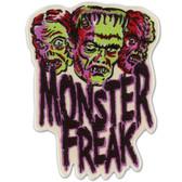 Monster Freak Frankenstein Zombie Werewolf Patch Embroidered Iron On Applique