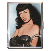 Bettie Page Dominate Pin Up Girl ID Case Business Card Holder Wallet