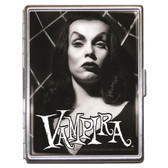 Vampira Glamour Shot Halloween Monster ID Case Business Card Holder Wallet