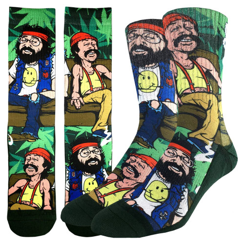 Men's Crew Socks Cheech & Chong on the Couch