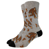 Men's Crew Socks Bigfoot Sasquatch Gray