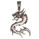 BICO Pacific Jewelry Pewter Pendant NUWA Dragon Tribal Surf Wear E308