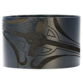 Bico Pacific Jewelry Black Leather Cuff Bracelet Wristband Surf Wear BWB10BL
