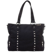 Sourpuss Purse Leda Canvas Stud Black Crossbody Shoulder Bag