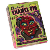 Fun House Devil Enamel Pin Ghoulsville Monster Mask Creepy Collectable