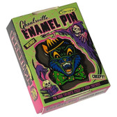 Crazy Cat Enamel Pin Ghoulsville Monster Mask Creepy Collectable
