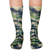 Unisex Men's or Women's Crew Socks Army Strong Camouflage Green