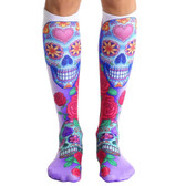 Unisex Men's or Women's Knee High Socks DIA Day of the Dead Sugar Skulls