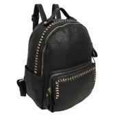 The Dora Backpack Purse Black Vegan Leather School Bag