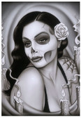 Day of the Dead Aria by Spider Tattoo Art Print Adrian Castrejon