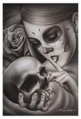 Hasta La Muerte by Spider Tattoo Art Print Adrian Castrejon