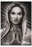 Praying Mary by Spider Tattoo Art Print Adrian Castrejon
