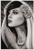 Tattooed Mary by Spider Tattoo Art Print Adrian Castrejon