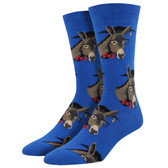 Men's Crew Socks Smart Ass Educated Donkeys Blue