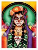 Ilumina Mi Camino by Cat Ashworth Tattoo Art Print Sugar Skull Mask