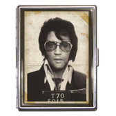 Elvis Presley Police Mugshot Cigarette Case Business Card Holder Wallet