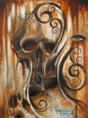 Skull and Eye by Manuel Valenzuela Canvas Giclee Tattoo Art Print