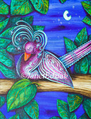 Night Love Bird by Janet Edziak Canvas Giclee Art Print