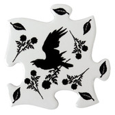 Alchemy Gothic Raven and Rose Coaster Set