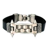 "Bico Leather Bracelet Mechanika ""Triumph Over Impossibility"" Pewter"