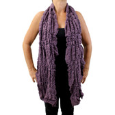 Purple scarf.