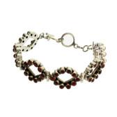 Brown Red Carnelian Bracelet Sterling Silver Adjustible
