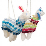 Alpaca Knitted Alpaca Ornament