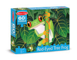 Melissa and Doug - Red-Eyed Tree Frog 60 piece Cardboard Puzzle