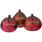 Owl Petite Carved Gourd Box: Color