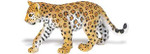 Beautifully hand-painted leopard cub toy replica.