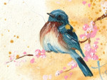Bluebird Oil Painting: Ornament / Mini Wall Hanging