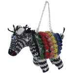 Zebra Alpaca Hand Knitted Ornament