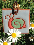Terracotta Snail Garden Tag/Ornament
