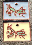 Terracotta Praying Mantis Garden Tag/Ornament